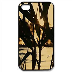 Reed, Sunset Watercolor style Cover iPhone 4 and 4S Case (Sun & Sky Watercolor style Cover iPhone 4 and 4S Case)