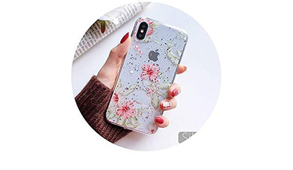 Amazon.com: SoCoupe Flower Silicone Case for iPhone 7 Case ...