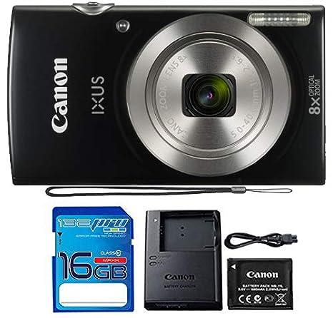 Amazon Com Canon Ixus 185 Elph 180 Digital Camera Black With