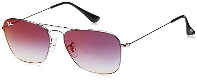 c587eb8eebd Image Unavailable. Image not available for. Color  Ray-Ban Metal Unisex  Sunglass Square ...