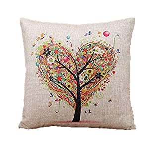 Decorative Pillow Cover Model : Amazon.com: Euone Linen Square Throw Flax Pillow Case Decorative Cushion Pillow Cover: Home ...