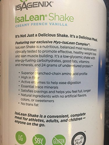 Isagenix Isalean Shake Creamy French Vanilla, 29.6 oz (canister) by Besmon (Image #2)