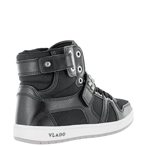 stockist online Vlado Footwear Women's Artisan Leather/Fabric High Top Sneakers Black White sale newest cheap authentic sale geniue stockist 3XoQIm