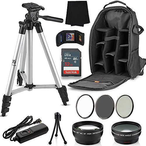 Professional 58MM Accessory Bundle Kit for Canon T6i T6 T6s T5i T5 T4i T3i T2i T1i 60D, 12 Piece Lightweight, Compact Accessories for Canon