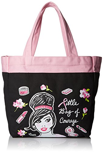 Koi Women's Canvas Tote Bag with Fun Designer Print, Little Bag of Courage, One Size (Tote Scrub)