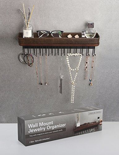 jack cube hanging jewelry organizer necklace hanger bracelet import it all. Black Bedroom Furniture Sets. Home Design Ideas