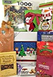 Christmas Nativity Creche Puzzle Gift Box Basket- Quality Lang Puzzle - Delicious Popcorn Candy Cocoa Chocolate Peanuts Cookies Coffee - Prime Season's Greetings - Perfect for Families and Puzzle Fans