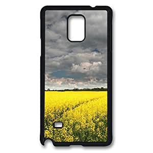 Desconocido Samsung Galaxy Note 4 Case, Note 4 Cases - Children Illustration Protective TPU Soft Rubber Bumper Case Cover for Samsung Galaxy Note 4 N9100 Black