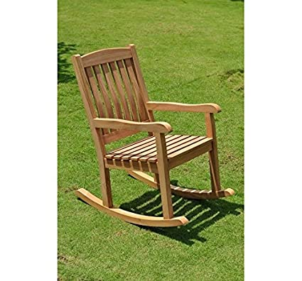 New Grade A Teak Rocker / Rocking Arm Chair (Cushion Not Included) #WHRKDV