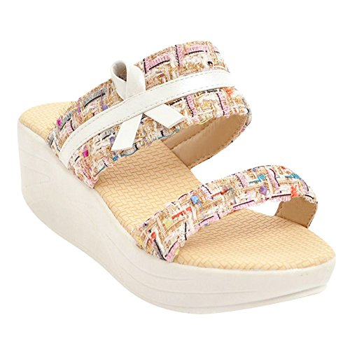 Platform Women's Slip Pink Mee Charm Sandals Shoes on qtgwfO