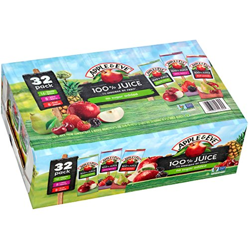 (Apple & Eve 100% Juice Variety Pack, 32 Count, 6.75 Oz Boxes)