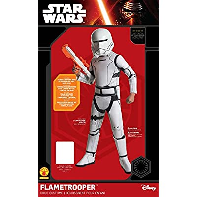 Star Wars: The Force Awakens Child's Super Deluxe Flametrooper Costume, Medium: Toys & Games