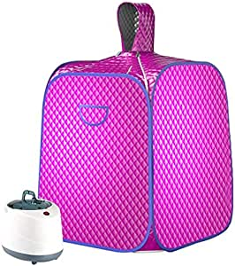 SEAAN Portable Steam Sauna Spa, Upgrade 2L Steamer, Personal Foldable Lightweight Tent, One Person Full Body Spa for Weight Loss Detox Therapy