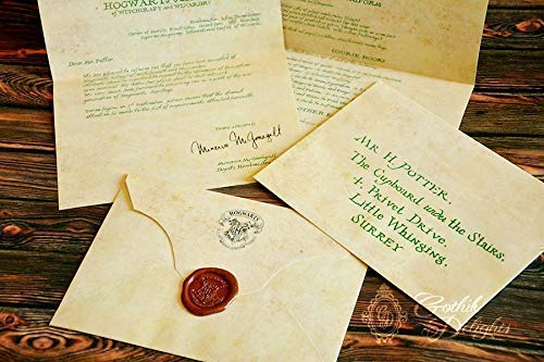 Amazon.com: Hogwarts Acceptance Letter, Harry potter or custom