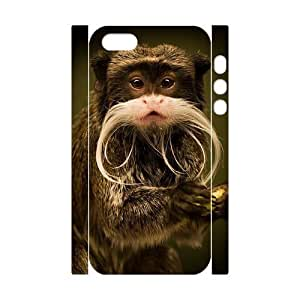 3D Bumper Plastic Customized Case Of Monkey for iPhone 5,5S by supermalls