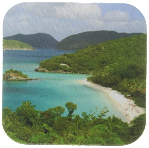 3dRose cst_70005_2 Usvi, St. John, Trunk Bay, Virgin Islands NP-CA37 CMI0147-Cindy Miller Hopkins-Soft Coasters, Set of 8 -