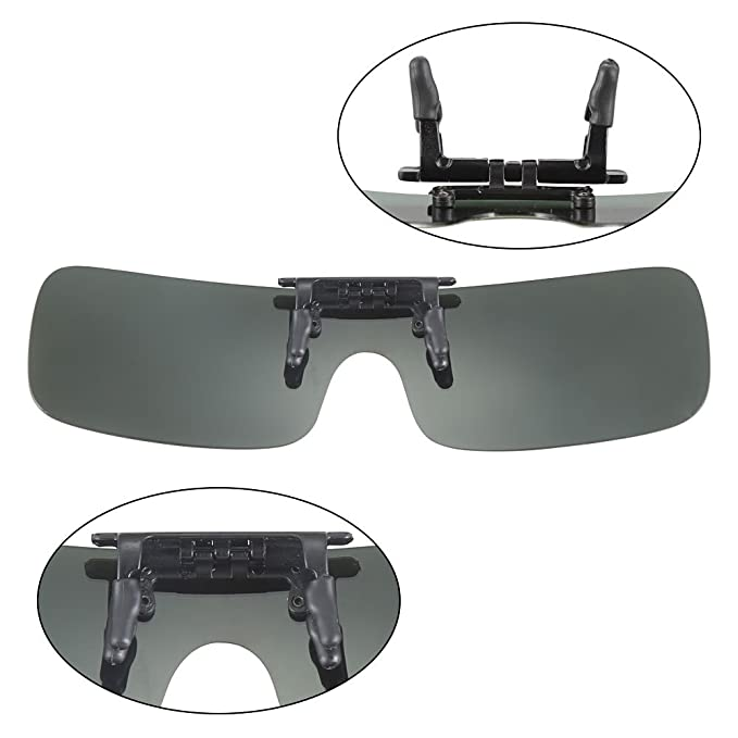 48828ea31e Farway Polarized Lens Myopia Night Vision Glasses clip on glasses Rectangle  Lens UV400 Protection Polarizing Sunglasses Driving Glasses Clip-on Mirror  Fits ...