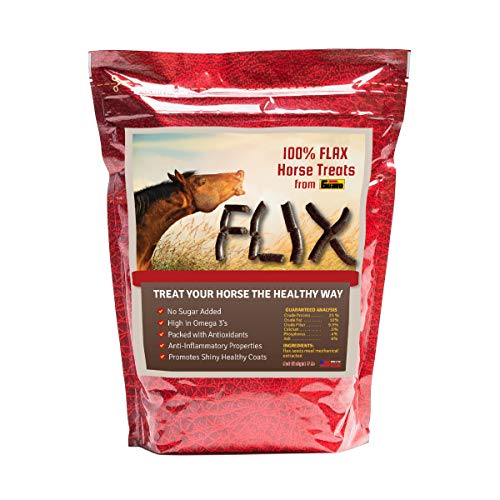 Horse Health Horses Treats - Flix - 100% Flax Treats for Horses