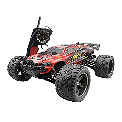 Rabing RC Car 1:18 High Speed 2.4GHz Wireless Remote Control Car Electric Rock Crawler Vehicle (Orange)