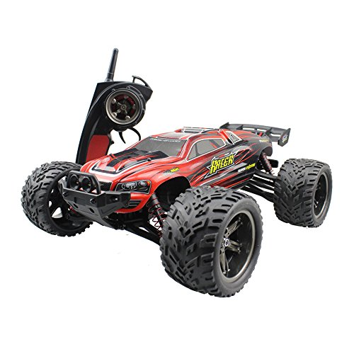 Rabing Remote Control Car F11 High Speed 1/12 Scale RC Car 2.4GHz 2WD Remote Control Trucks Off-Road 40+KM/H Radio Controlled Electric Vehicle-Red Radio Remote Controlled Truck