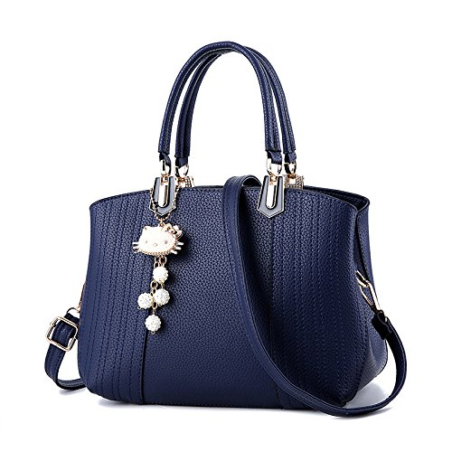 Blue Handbag Bag Donna Borse Stereotypes Borse Shoulder Wave Sweet Classic Messenger Ladies Da New BwO1wpq