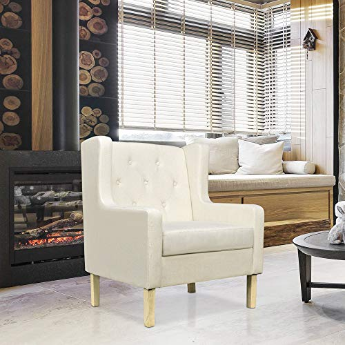 Cloud Mountain Accent Chair Fabric Club Single Chair Upholstered Arm Chair for Living Room
