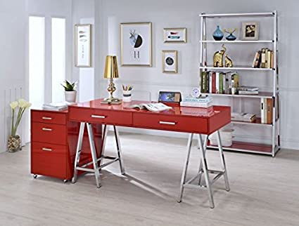 Terrific Amazon Com Major Q Modern Home Office Furniture High Gloss Home Interior And Landscaping Transignezvosmurscom