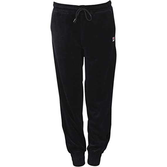 4742adb8 Fila Women's Jodi Velour Jogger Pants - Black -: Amazon.co.uk: Clothing