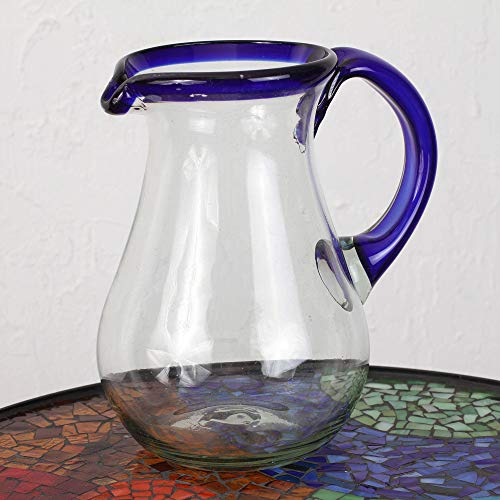 NOVICA 161655'' Blue Grace Glass Pitcher by NOVICA (Image #2)