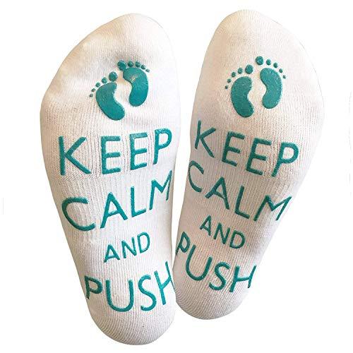 Maternity Labor and Delivery Socks Non Skid Birthing Socks Inspirational Fun Socks Baby Shower Christmas Gift