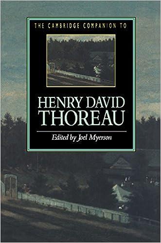 Book The Cambridge Companion to Henry David Thoreau (Cambridge Companions to Literature)