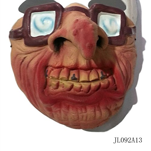 Half Bat (Smartcoco Halloween Masquerade Half-face Mask Scary Child's Play Latex Realistic Crazy Rubber Creepy Party Mask Halloween Costume Decoration)