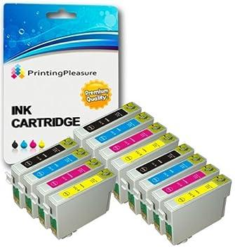 12 XL Compatibles T0711-T0714 (T0715) Cartuchos de Tinta para ...