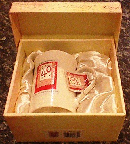 40th feliz cumpleaños MUG - IN con caja de presentación ...