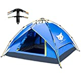 Night Cat Camping Tent 2 3 4 Person Instant Pop Up Automatic Dome Holiday Easy Set Up Tent for Outdoor Hiking Double Layer