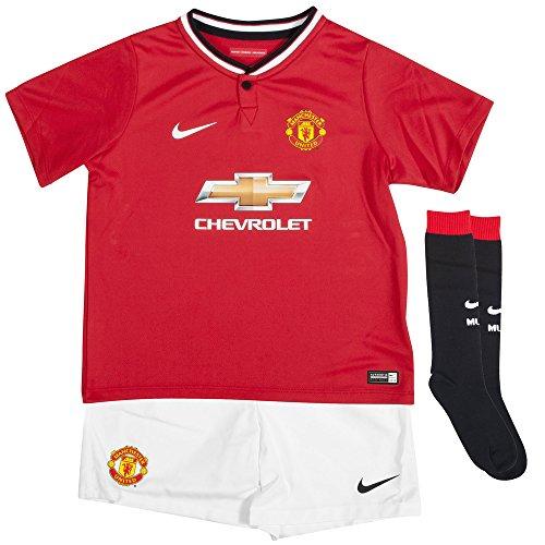 Nike Manchester United Little Boys Home Kit [DIABLO RED/FOOTBALL WHITE/2-FULL SPONSOR/FOOTBALL WHITE] (XS)