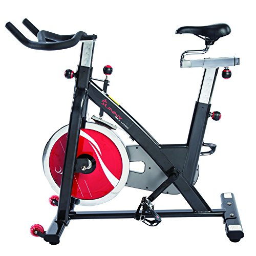 Sunny Health & Fitness Chain Drive Indoor Cycling Bike, Grey