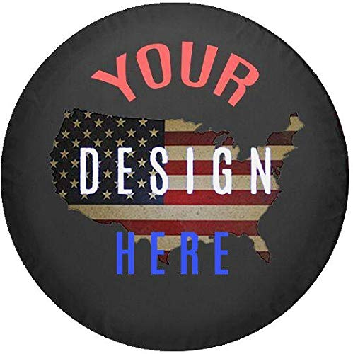 American Unlimited Custom Jeep Tire Cover You Design Personalized Full Color Spare Tire Cover Size 31 ()
