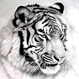 Gracefulvara 5D Tiger Diamond Embroidery Painting Home Decor Cross Stitch DIY Craft