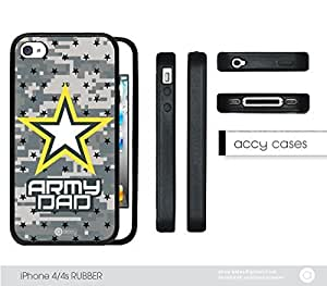 Army Camo Dad iPhone 4 4s Rubber Silicone TPU Cell Phone Case