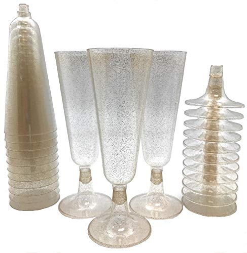 Plastic Classicware Glass Like Champagne Wedding Parties Toasting Flutes (1 Box = Quantity 70) -
