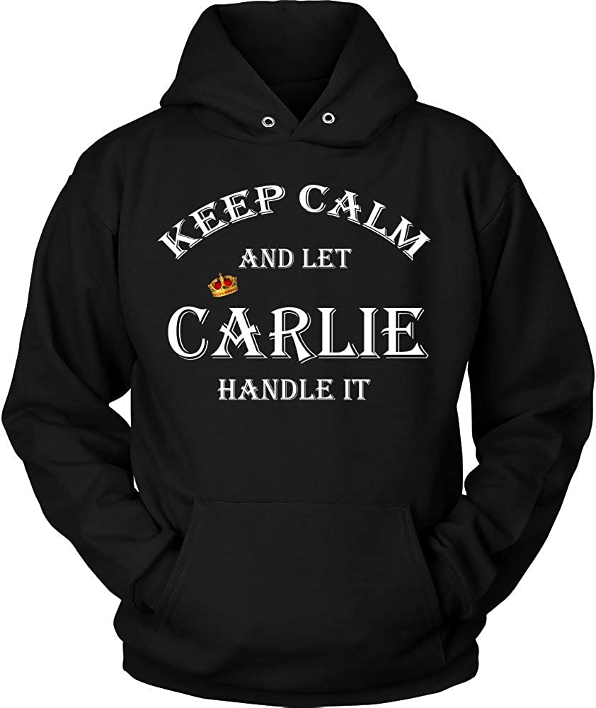 KENTEE Keep Calm and Let Carlie Handle It 11oz Mug Gift Hoodie Black