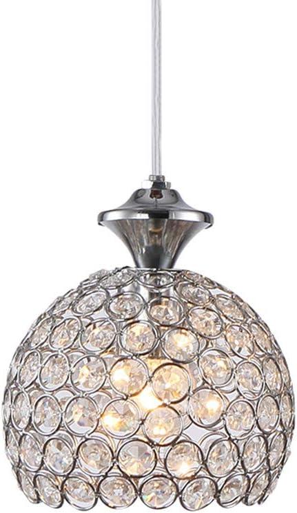 L/ámpara Colgante Interior E27 Iluminaci/ón de Techo para Balc/ón Habitaci/ón Hotel Restaurante Cromo Luces Colgantes LED de Cristal Moderno