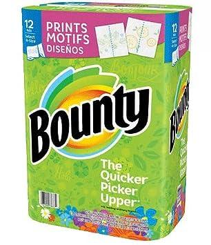 Bounty impresiones select-a-size toallas de papel de 12-rolls: Amazon.es: Hogar