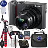Panasonic Lumix DC-ZS200 Digital Camera (Silver) + 32GB Memory + Essential Photo Bundle For Sale