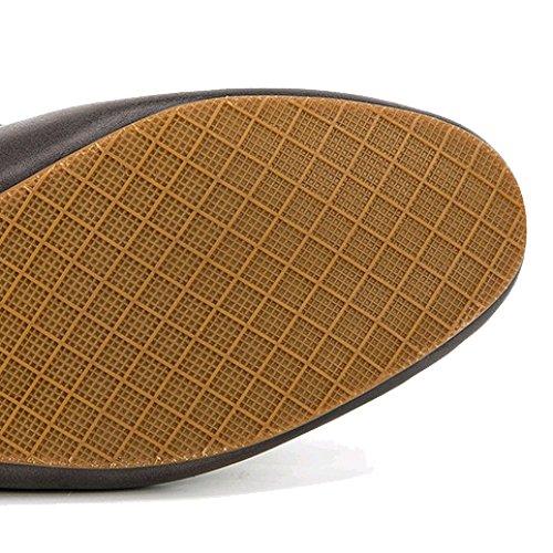 Antiscivolo Autista Pelle Uomo Oxford Scarpe da Inghilterra di Brown Scarpe Cuoio Casuale Scarpe Scarpe Moda da Piselli Traspirante qwnzagwAC7