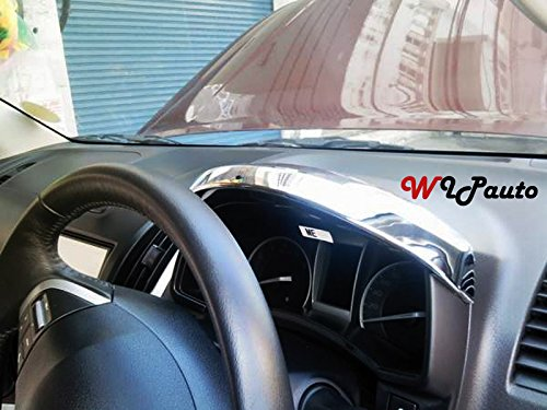 Chrome Meter Ring Gauge Dash Cover Trim Isuzu Dmax D-max 2012-2014