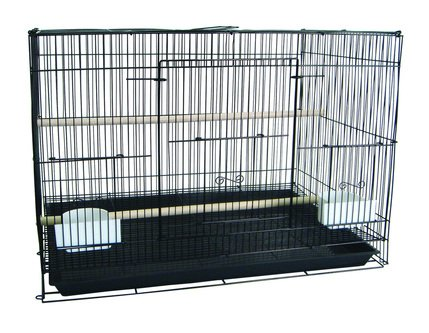 YML 6x2424MIX Lot of 6 Small Breeding Cages44; Yellow with Pink & Green by YML