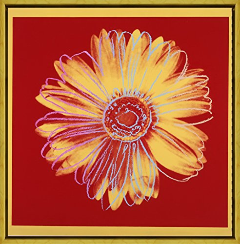 Berkin Arts Framed Andy Warhol Giclee Canvas Print Paintings Poster Reproduction (Daisy) (Warhol Daisy)