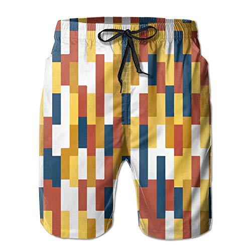 順応性シャープどうやってカラー アブストラクト 紳士のファッションと快適のビーチショーツ スイムショーツ メッシュインナー 通気 速乾 ビーチズボン 海水パンツ ショートパンツ